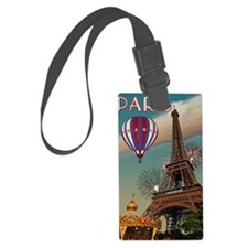 Paris - Carrousel and Eiffel Tow Luggage Tag