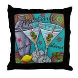 Retro Martini Throw Pillow