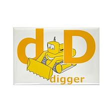 DisforDigger Rectangle Magnet