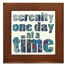 serenity-one-day-at-a-time Framed Tile