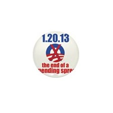 end-of-a-spending-spree-10x10 Mini Button