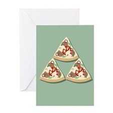 Pizza Triforce Greeting Cards