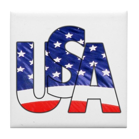 USA logo Tile Coaster