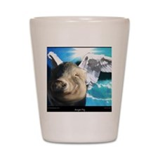 Angel-Pig-Large-Framed-Print Shot Glass