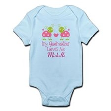 Personalized Godmother Loves Me Ladybug Body Suit