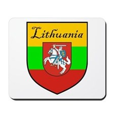 Lithuania Flag Crest Shield Mousepad