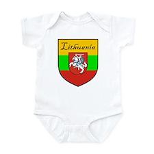 Lithuania Flag Crest Shield Infant Bodysuit