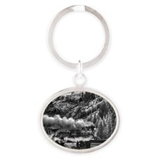10x14 Eureka Black and White Oval Keychain