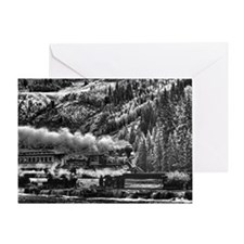 10x14 Eureka Black and White Greeting Card