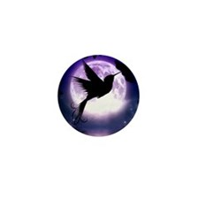 Moonlit Hummingbird Mini Button