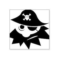 """PirateFunny1 Square Sticker 3"""" x 3"""""""