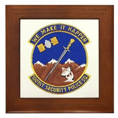1001st Security Police Framed Tile
