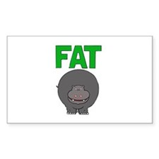 Fat Hippo Rectangle Decal