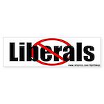 No Liberals Political Bumper Sticker