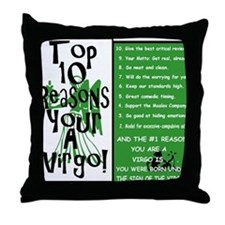Virgo6.gif Throw Pillow