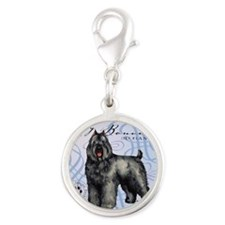 bouvier-tile Silver Round Charm