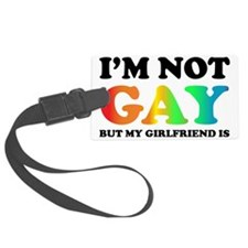 Im not gay3 Luggage Tag