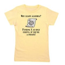 Algebra Pirate Black Girl's Tee