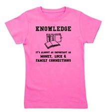 Knowledge Black Girl's Tee
