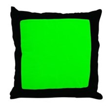Lime Green Tile Throw Pillow