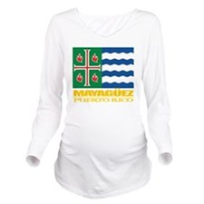 Mayaguez Flag Long Sleeve Maternity T-Shirt
