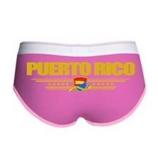 Puerto Rico (Flag 10) pocket Women's Boy Brief