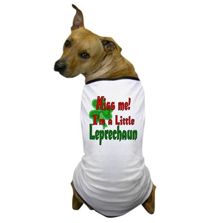Kiss Little Leprechaun Dog T-Shirt