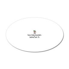 SmokyMtns-TN-Grl 20x12 Oval Wall Decal
