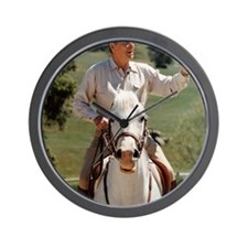 Reagan_on_horseback Wall Clock