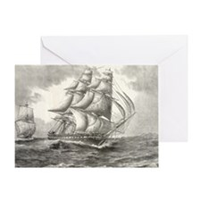14.7x9.67_laptopSkin_USSconstitution Greeting Card