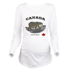 Canada-PolarBear2-1  Long Sleeve Maternity T-Shirt
