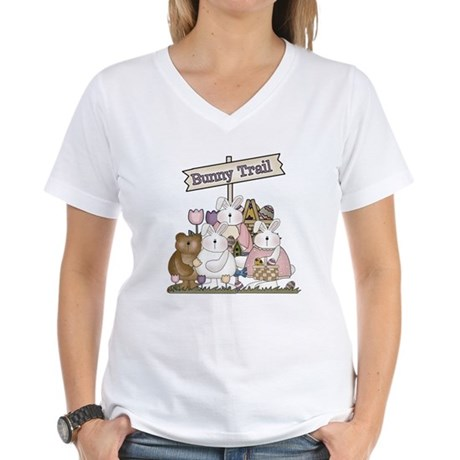 The Bunny Trail Women's V-Neck T-Shirt