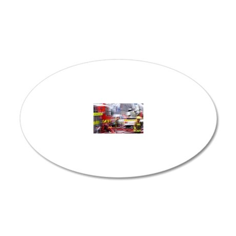 Firefighting, Dunedin, South 20x12 Oval Wall Decal
