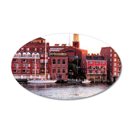 portsmnote3 35x21 Oval Wall Decal