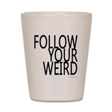 follow-your-weir-block-black Shot Glass