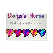 Dialysis Nurse 2011 Hearts Rectangle Magnet