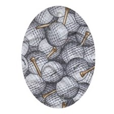 golfballs tees ipad Oval Ornament