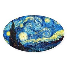 starry night coin purse Decal