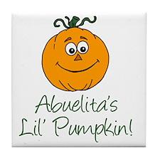 Abuelitas Little Pumpkin Tile Coaster