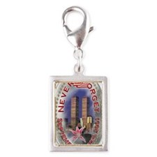SEPTEMBER 11 001 Silver Portrait Charm