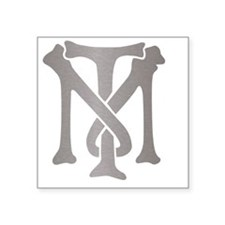 "tony-montana-monogram-silve Square Sticker 3"" x 3"""
