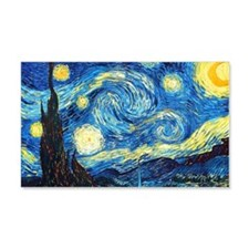 starry night mini wallet Wall Decal