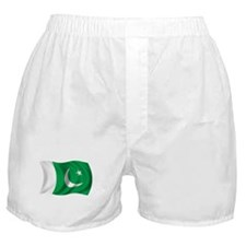 Wavy Pakistan Flag Boxer Shorts