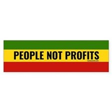 Rasta Gear Shop People not Profits Bumper Bumper Sticker