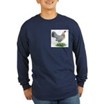 Blue Gold DW Hen Long Sleeve Dark T-Shirt