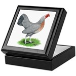 Blue Gold DW Hen Keepsake Box