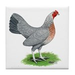 Blue Gold DW Hen Tile Coaster
