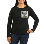 Blue Gold DW Hen Women's Long Sleeve Dark T-Shirt