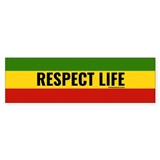 Rasta Respect Life Bumper Car Sticker