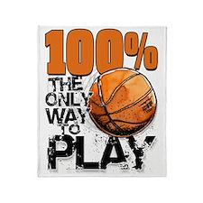 100PercentBasketballCard Throw Blanket